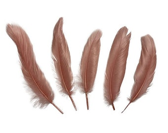 """Goose Satinette Feathers, 4-6"""" Rose Loose Goose Feathers, Small Feathers, Art and Craft Supplies ZUCKER®"""