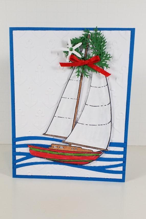 Box Set of Nautical Chistmas Cards Nautical Christmas Card | Etsy