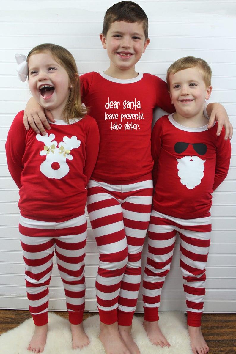 d2a381ceb6 Kids Christmas PJs Childrens Christmas Pajamas Christmas