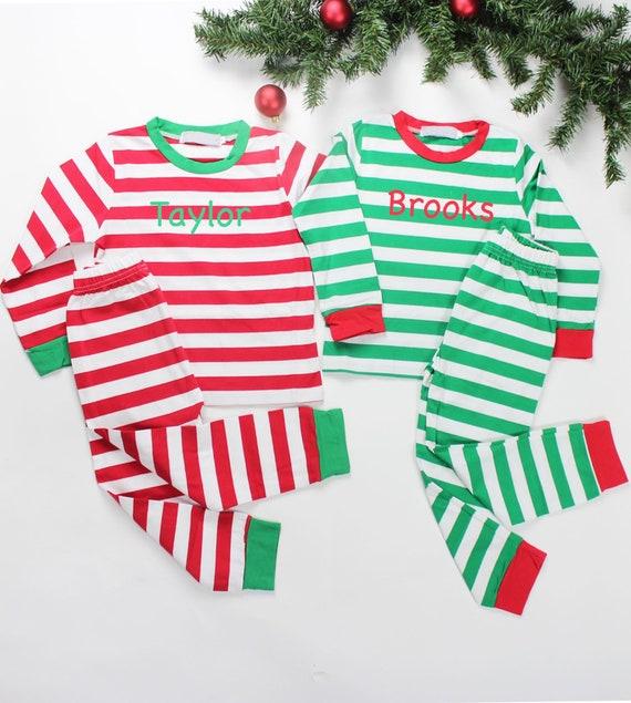 08f6d3870d Personalized Christmas Pajamas Childrens PJs Kids Pajama Set