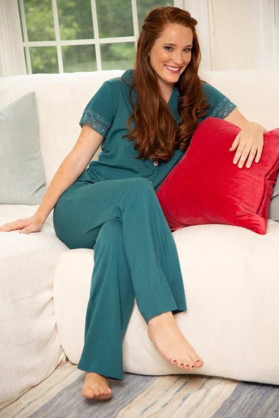 Womens Christmas PJs Holiday Pajamas Green  bcf5374fb