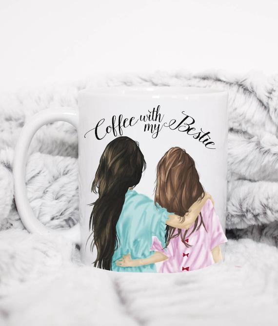 mit meinem freund tasse kaffee bester freund geschenk tasse etsy. Black Bedroom Furniture Sets. Home Design Ideas