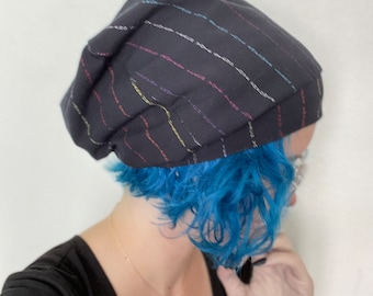 transgender queer gay bisexual pride feminist beanie winter accessories Christmas gift hand sewn fall cozy autumn hat striped empowerment