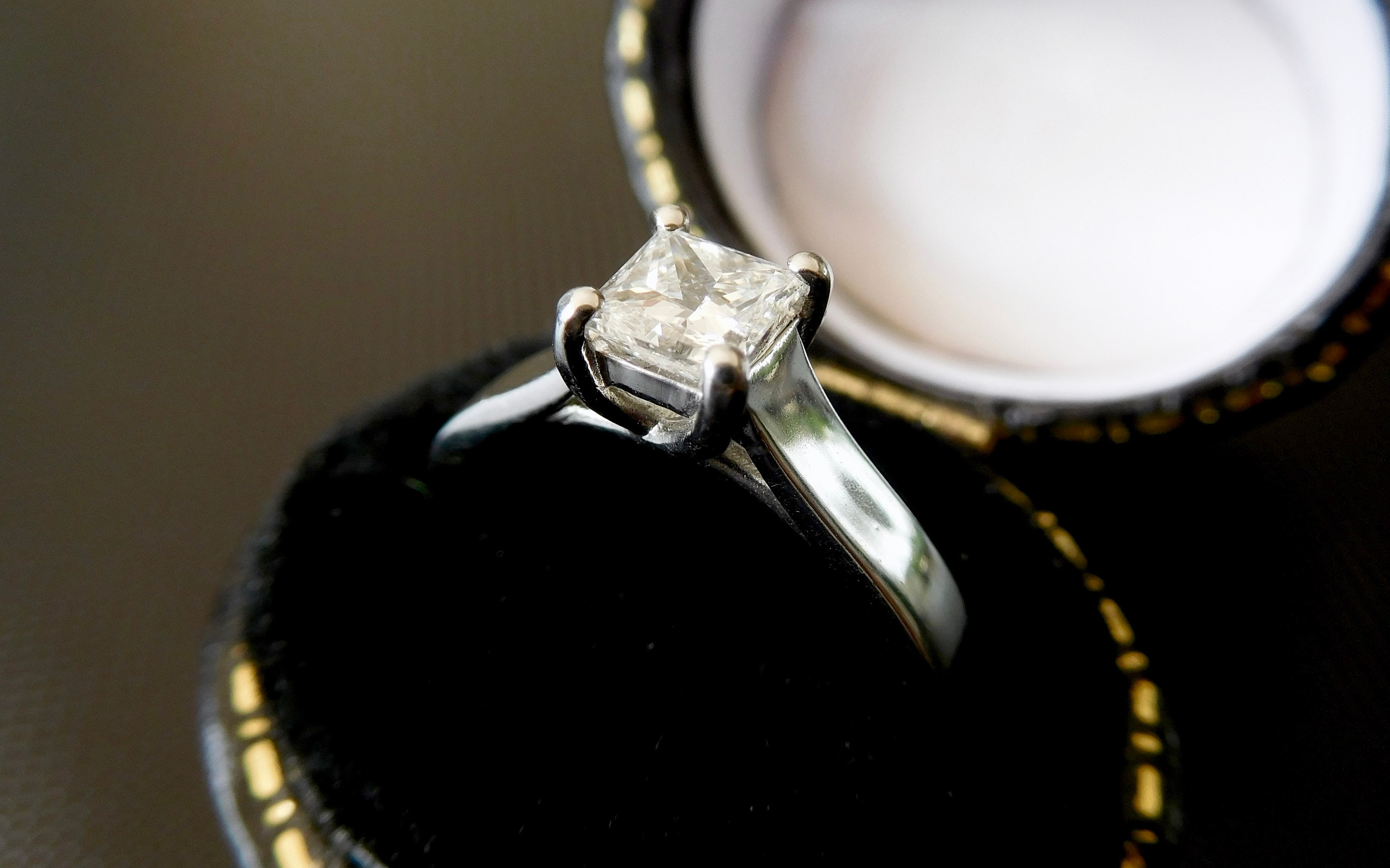 Platinum Princess Cut Diamond Engagement Ring Princess Cut