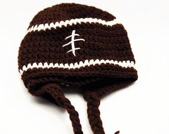 Crochet football ear warmer team colors ear warmer football fan football mom