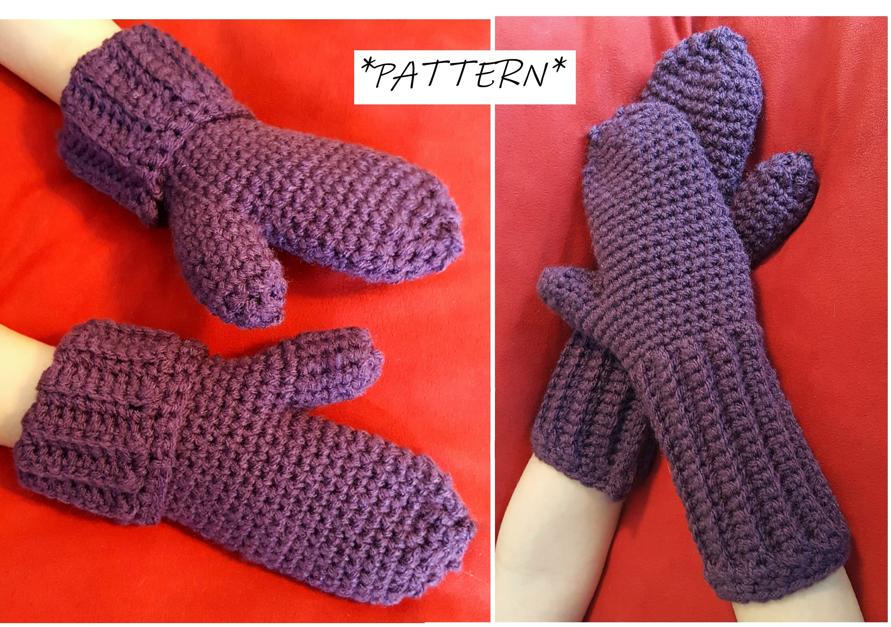 Pattern Only Kids Crochet Mittens Pattern Mittens Pdf File Etsy