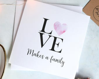 Adoption card etsy love makes a family adoption card new family card adoption greeting cards m4hsunfo