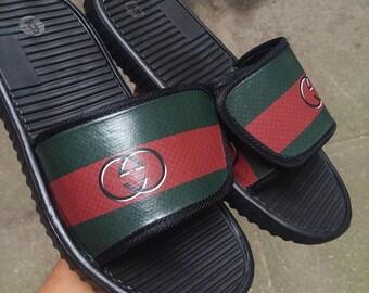 5e0e4b09481 Gucci Logo Inspired Boost Slides - Sandals - Slippers