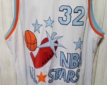 dd2d6405e75 Vintage 1979-80 Mitchell & Ness Authentic Hardwood Classics Magic Johnson  #32 Size 60 NBA All Star Jersey 100% Polyester - Free Shipping