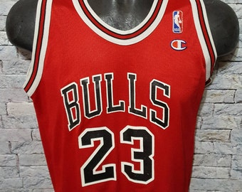6dddb69cb2a Vintage 90's Champion Michael Jordan #23 Chicago Bulls Polyester Athletic NBA  Basketball Jersey Size Youth L 14-16 Made In USA