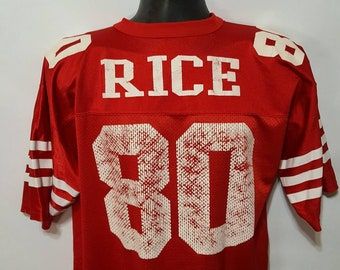 d11ee9cf6 Vintage Jerry Rice  80 San Francisco 49ers Logo Athletic NFL Football Jersey  Size Large Made In USA