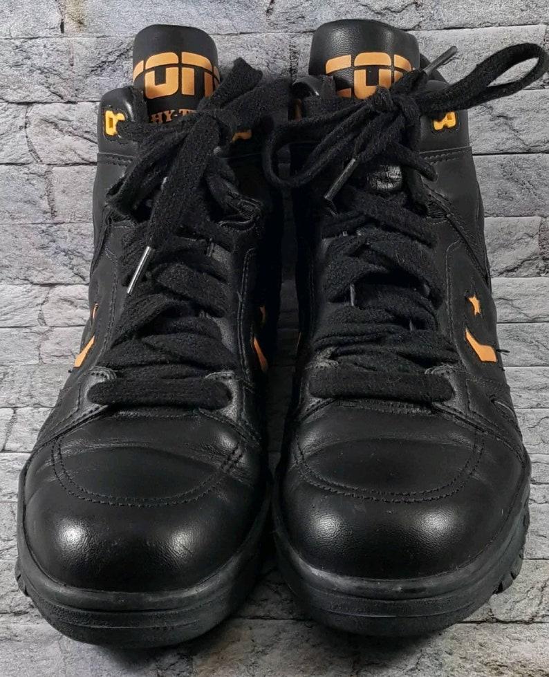 23c0144d5d7ffc Vintage Converse Cons Hy-Test Hi-Top Mens Black Steel Toe