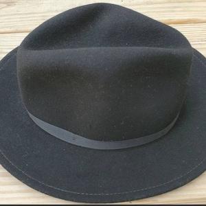Vintage 1950s Mybro camel wool felt fedora hat with brown