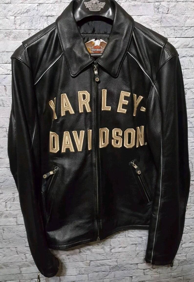 28f5f0eb49f1 RARE Harley Davidson 100th Anniversary Men s Black Leather