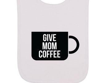 Coffee Handmade Baby  Toddler Bib