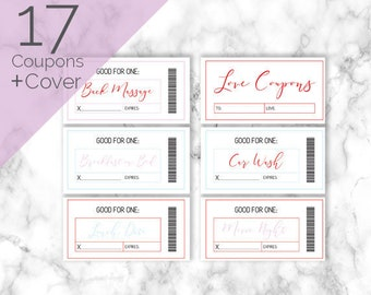 Love Coupons | Love Coupons, Love Coupon Book, Printable Coupons, Love Coupon, Valentine Coupons, Blank Coupons, Love Vouchers, DIY coupons