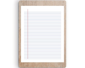 picture relating to Printable College Ruled Paper referred to as Faculty dominated paper Etsy