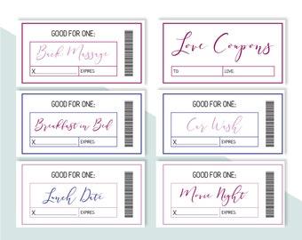 love coupons love coupons love coupon book printable etsy