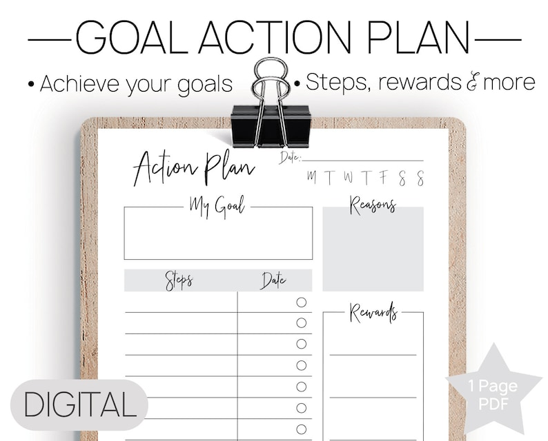 photograph about Goals Printable referred to as Printable Purpose Step Program Function PDF, 2019 Ambitions, Targets Worksheet, Step Reason Method, 30 Times Targets System, Phase Objective Planner, Function Atmosphere