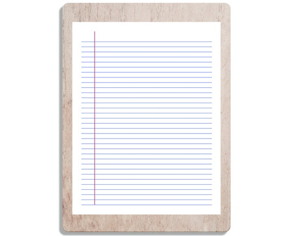 Printable College Ruled Pages Printable School Paper School Paper Pdf Printable Ruled Paper Printable Notes Ruled Notebook Paper Pdf