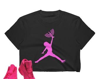 abe0c02c87a Jumpman Christ Women's Crop Top Shirt Jumpman Jordan Inspired Jesus Christ  Menorah Black Hebrew Israelite Shirt Athletic Urban Wear Gifts
