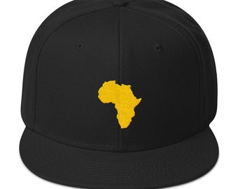 Africa Snapback Hat Logo Hat Athletic Urban Wear Gift Urban Apparel Ball Cap  Dad Hats Bucket Hats Fitted Caps African Hats 603b5c16b127