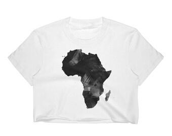 2bf4a9bbfaed99 Africa African Art Women s Crop Top Graphic Shirt Athletic Urban Wear Gift  Urban Apparel Women Crop Tops Black Women Crop Top Shirts