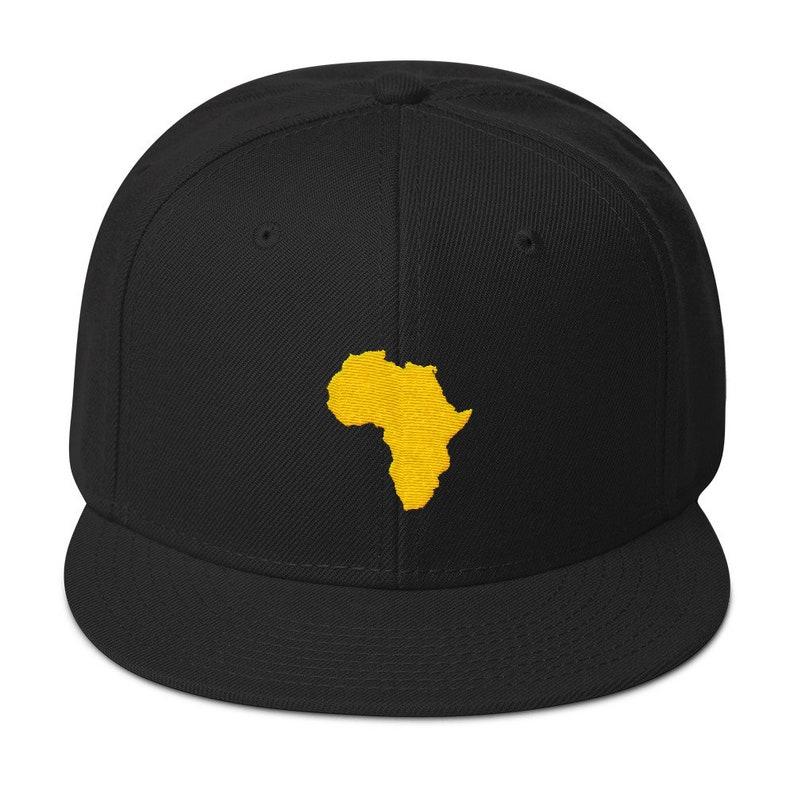 Africa Snapback Hat Logo Hat Athletic Urban Wear Gift Urban  5a357b5ec68c