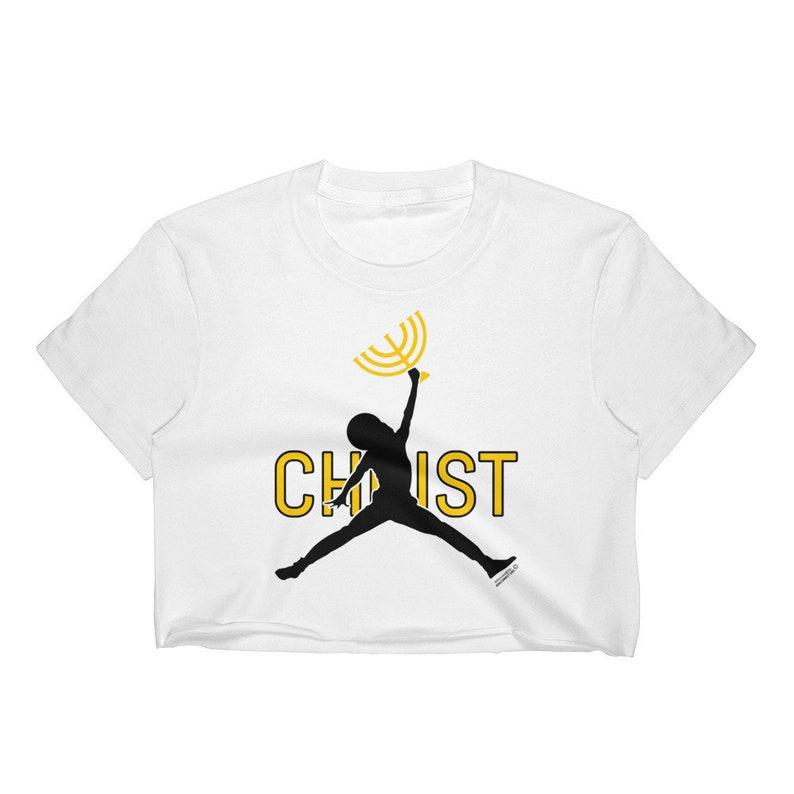cada8eb2863 Jumpman Christ Women's Crop Top Shirt Jumpman Jordan | Etsy
