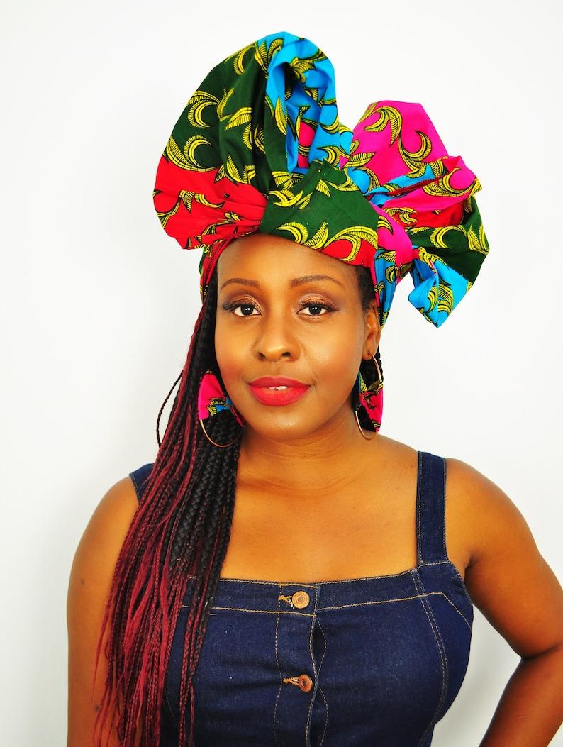 63c2788ff6d59 Akim African headwrap, Ankara head wrap, Green, Red, Blue, Pink, wax print  head tie, African headtie, ankara head scarf, African turban