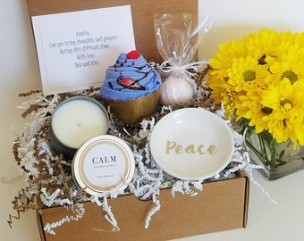 Loss of Loved One Gift Basket. Cheer Up Care Package. Bereavement Gift. Funeral Gift. Condolences.