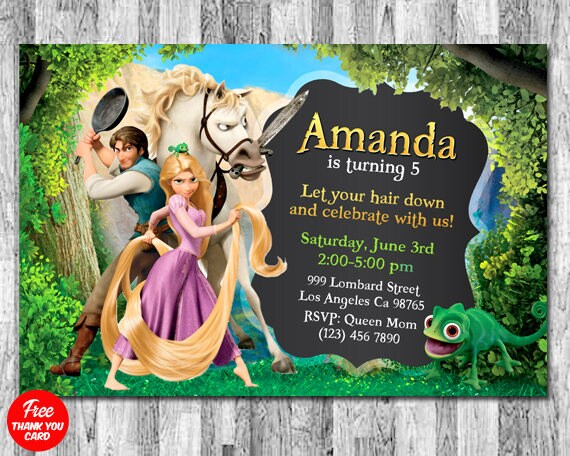 Tangled invitation rapunzel invitation tangled birthday etsy image 0 filmwisefo