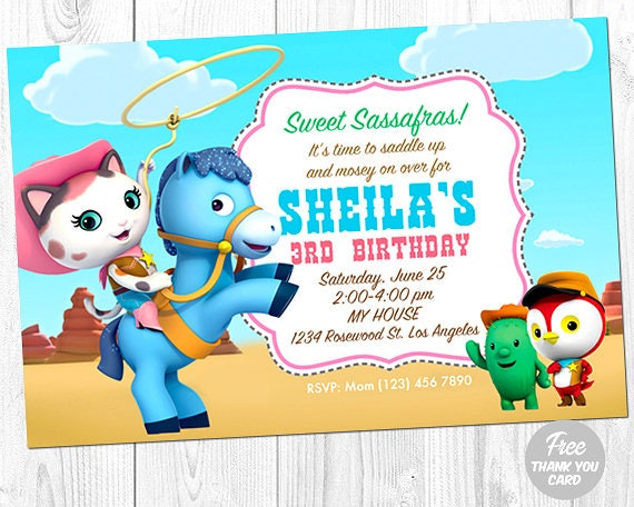 Sheriff Callie Birthday Invitation Sheriff Callie Invitation Etsy