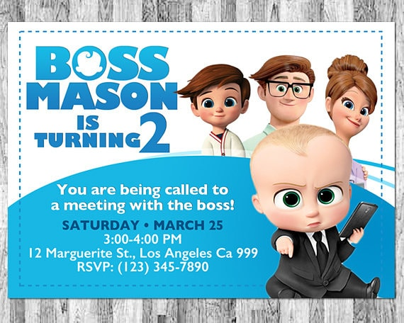 Boss Baby Invitation Boss Baby Movie Invitation Boss Baby Etsy