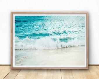 Ocean Print - Wave Art Print, Digital Print, Printable Wall Art, Surf Beach, Sea Wall Art, Beach Decor, Beach Home, Coastal Photography