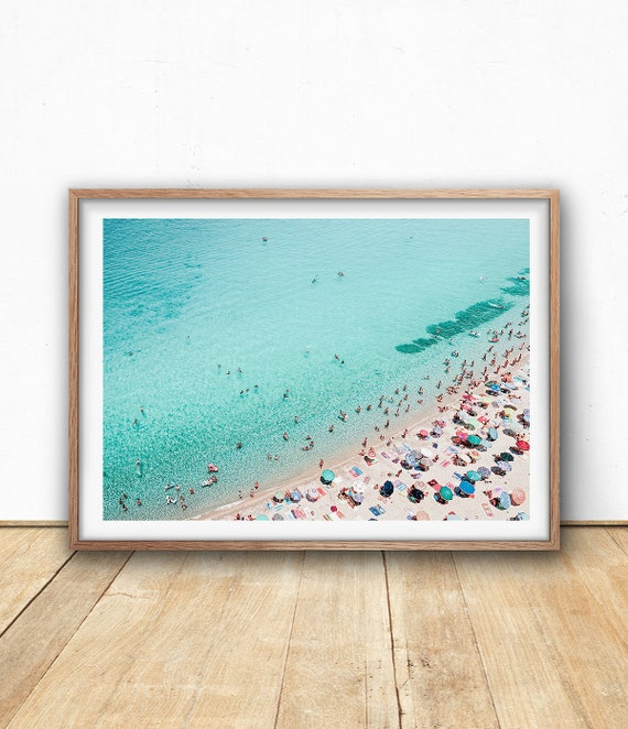 image relating to Etsy Printable Wall Art titled Aerial Seaside Print, Printable Wall Artwork, Beach front Electronic Print