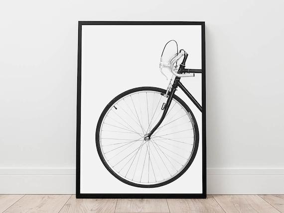 Bicycle Print Scandinavian Wall Art Digital Download