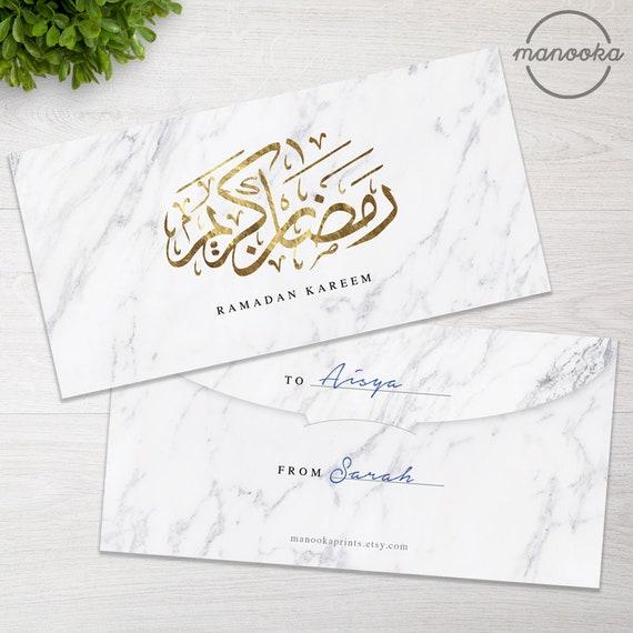 El Islam Eid MUBARAK Ramadán Kareem iftar Regalo Golden Cake Toppers inglés árabe