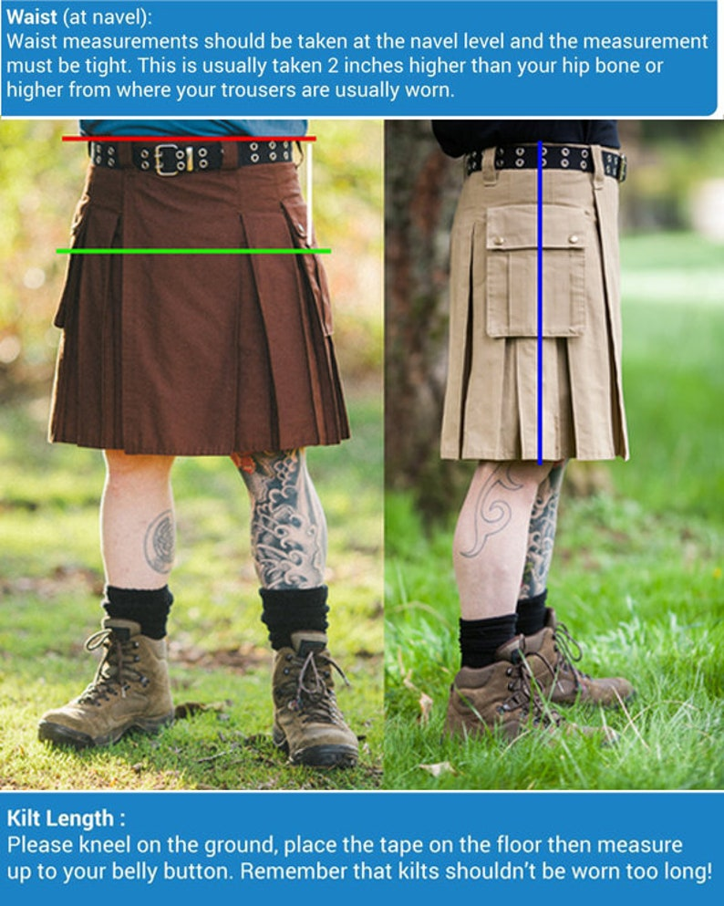 Pride Of Scotland Hybrid Detachable Pockets Kilt Active Men Kilt Cargo kilt kilts Utility kilt Tartan Kilt