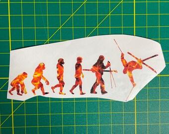 Space Storm Skiing Evolution Sticker