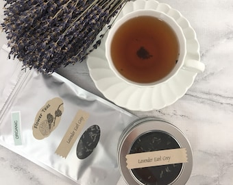 Lavender Earl Gray Tea Loose Leaf Earl Grey in Tin Pouch or Test Tube