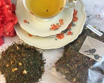 Orange You Slim - Metabolism Weight Support Tea - Loose Leaf Green Tea Dandelion Leaf Oranges Safflower Petals
