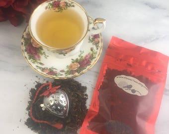 Strawberry Sunrise Free Infuser Loose Leaf Green Tea 1 oz Pouch