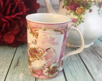 Royal Albert Old Country Roses Afternoon Tea Coffee Cup Mug Phillipa Mitchell Fine Bone China Porcelain Multiples