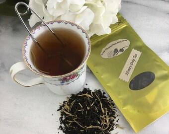 Honey Drip Tea Loose Leaf Black Tea with Honeysuckles and Vanilla 1 oz Pouch