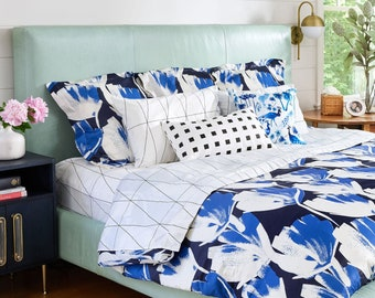 Custom Home Decor with Spoonflower Fabrics by Roostery on Etsy