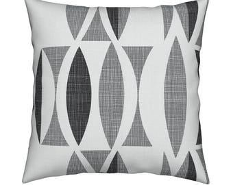 03961b89c87 Mid Century Modern Throw Pillow - field in black   white by Chicca Besso -  Mod Home Decor Catalan Throw Pillow by Roostery with Spoonflower