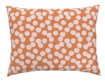 Madras strip pillow sham