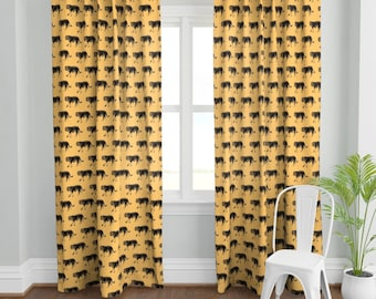 Great Tiger Majesty 3D Blockout Photo Curtain Print Curtains Fabric Kids Window