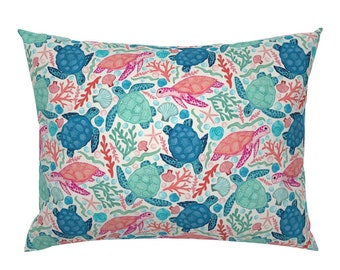Tropical Floral Pillow Sham Tropicana by crissie/_rodda Summer Paradise Cotton Sateen Pillow Sham Bedding by Spoonflower